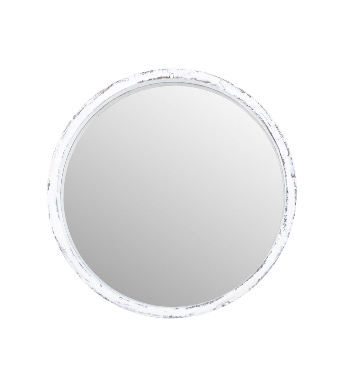 Espejo Pared Dakota Redondo Blanco Peque O Moycor