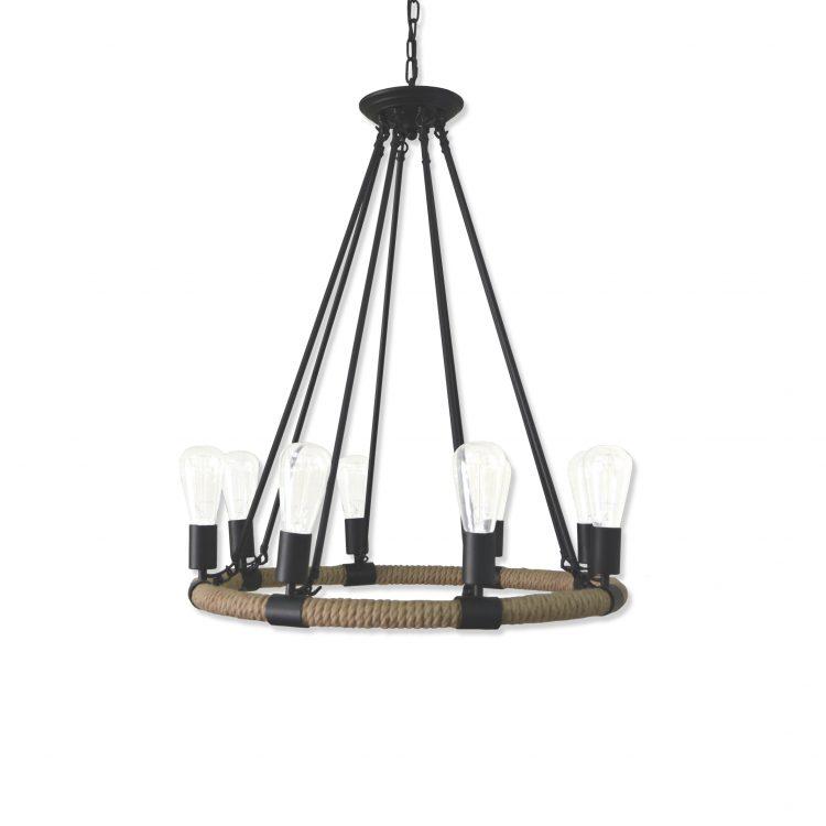 Lampe Industrielle Plafond Lustre Fercorde Cnoir 60diam 220 240v